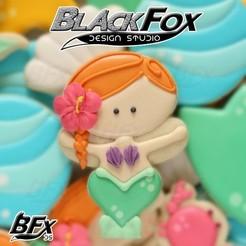 sirena 2.jpg Download 3MF file Mermaid cookie cutter • Model to 3D print, BlackFox