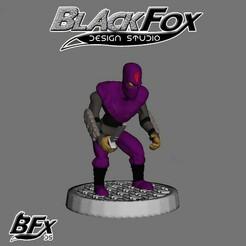 morado 1.jpg Download STL file FOOT SOLDIER TMNT 28MM M1 • Object to 3D print, BlackFox