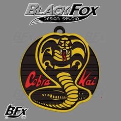 llaver.jpg Télécharger fichier STL Cobra Kai Keichain • Plan pour impression 3D, BlackFox