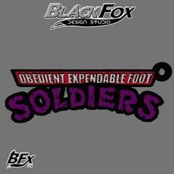llavero.jpg Download STL file Foot Soldier TMNT Keychain • 3D printer model, BlackFox