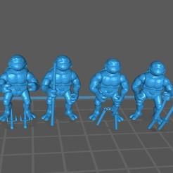 Tortugas 80s.jpg Download STL file TMNT 80s Tortugas Ninja • 3D printer template, BlackFox