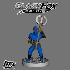azul 5.jpg Download STL file FOOT SOLDIER TMNT 28MM A5 • 3D printer template, BlackFox