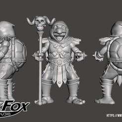 TortuSkele 3d.jpg Download STL file TMNT Skeletor • 3D printer object, BlackFox