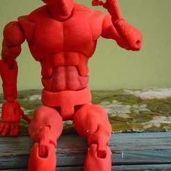 Jason_Welsh_action-3_preview_featured.jpg Download free STL file Action Figure 70 point articulated • 3D printer template, BlackFox