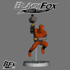 naranja 5.jpg Download STL file FOOT SOLDIER TMNT 28MM N5 • Model to 3D print, BlackFox