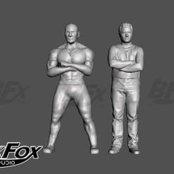 Fast and Furious.jpg Télécharger fichier STL gratuit Toretto et Bryan • Design imprimable en 3D, BlackFox