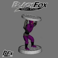 morado 7.jpg Télécharger fichier STL FANTASSIN TMNT 28MM M7 • Modèle imprimable en 3D, BlackFox