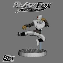blanco 3.jpg Download STL file FOOT SOLDIER TMNT 28MM B3 • 3D print template, BlackFox