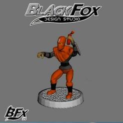 naranja 1.jpg Télécharger fichier STL FANTASSIN TMNT 28MM N1 • Objet pour imprimante 3D, BlackFox