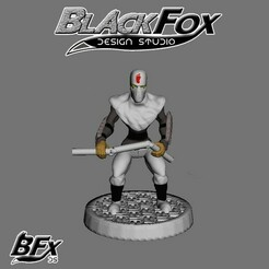 blanco 2.jpg Download STL file FOOT SOLDIER TMNT 28MM B2 • Design to 3D print, BlackFox