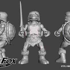 TortuHem 3d.jpg Download STL file TMNT HeMan • 3D printing template, BlackFox