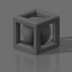 Télécharger fichier STL gratuit Sphère dans un cube • Design pour imprimante 3D, eduardosanroman0408