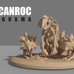 Diorama Lycanroc.jpg Télécharger fichier STL Lycanroc Diorama - Pokémon • Design pour imprimante 3D, pollinvolador