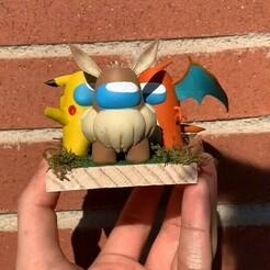 Captura de pantalla 2021-01-15 104101.jpg Download STL file Pack Pokemon Among Us • 3D printer design, pollinvolador
