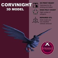 Descargar modelo 3D gratis Corvinight Gigantamax - Pokemon, pollinvolador