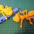 Download STL file Cute Flexi Print-in-Place Ant • 3D printing design, moyneman1