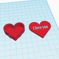 Descargar modelo 3D Caja de corazones Te amo, logansiegel27