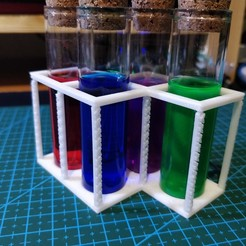 Download free 3D printing files Potions holder for 22mm bottles, Kliffom
