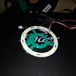 Download free STL file Ender 3 Vent Ring with Led Ring support • 3D print model, Kliffom