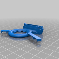 Download free STL file Ender 3 Vent Ring with Led Ring support (offset) • 3D print model, Kliffom