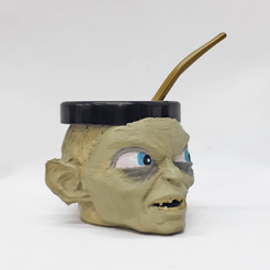 gollum 2.png Download free STL file Mate Gollum (Lord of the Rings) • 3D printer design, fantasyimpresiones