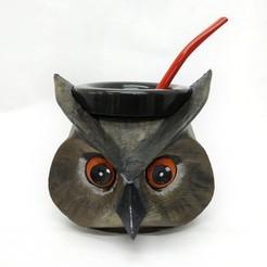 mate buho_2.jpg Download free STL file Matt Owl • Model to 3D print, fantasyimpresiones