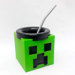 creeper mate.png Download free STL file Mate Creeper (Minecraft) • 3D printing design, fantasyimpresiones