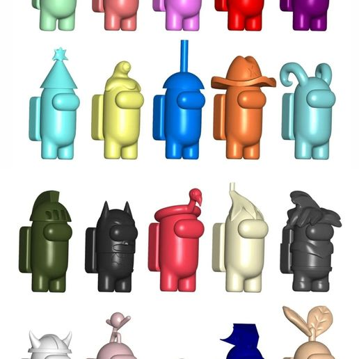 Download STL file Pack Stl - AMONG US X 20 und, • Template to 3D print, fantasyimpresiones