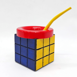 Cubo de Rubik 3.png Download free STL file Mate Rubik's Cube • 3D printer model, fantasyimpresiones