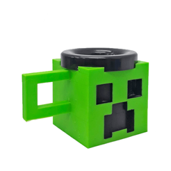 Taza cripeer.png Download free STL file Creeper Mug (Minecraft) • 3D printable template, fantasyimpresiones