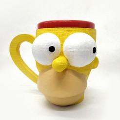 taza homero_1.jpg Download free STL file Homer Simpsons Mug • 3D printable design, fantasyimpresiones