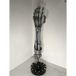 IMG_7929.JPG Download free STL file Terminator arm • 3D printable template, fantasyimpresiones