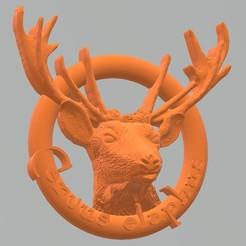 Descargar archivo 3D Rótulos lavabo Ciervo - Cervus elaphus, ANHELS-Natura