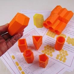 geometria abejas.jpg Download STL file BEEHIVE GEOMETRY • 3D printer object, ANHELS-Natura