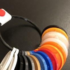 Descargar archivos 3D gratis Muestras de colores de llaveros, juliencasimir83
