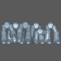 legs.jpg Download free STL file Modular Marines pt1 leg poses • Template to 3D print, LegioXIVguy