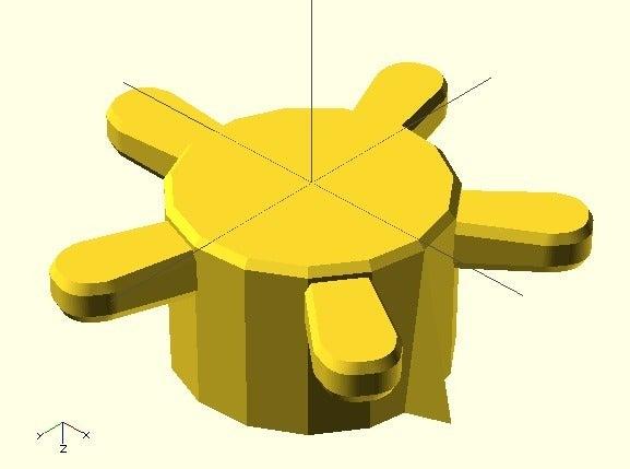 tap.jpg Télécharger fichier SCAD gratuit Bouton de plaque de cuisson • Design pour imprimante 3D, Glutnard