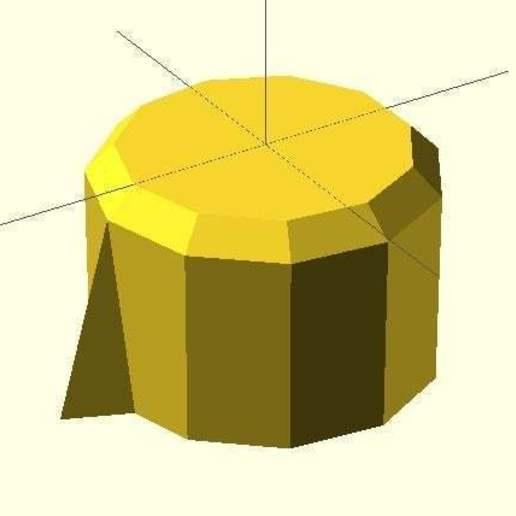 with_chamfer.jpg Télécharger fichier SCAD gratuit Bouton de plaque de cuisson • Design pour imprimante 3D, Glutnard