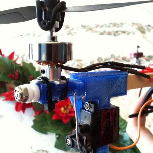 Download free 3D model Tricopter mount for smaller motors, Glutnard