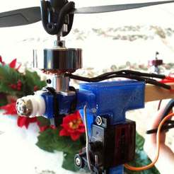 Download free 3D model Tricopter mount for smaller motors, Glutnard