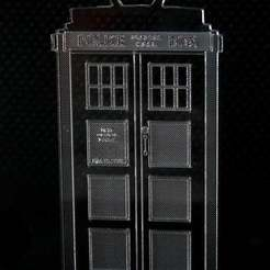 Download free 3D printing designs Necklace Tardis: Laser-cut time-traveling jewelry, Glutnard