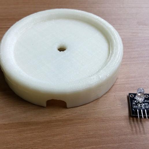 20141015_181934.jpg Download free STL file RGB LED Coaster • 3D printing object, Glutnard