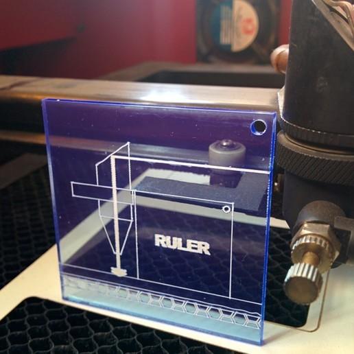 Download free 3D printing templates Self-Describing Laser Ruler LS3040, Glutnard