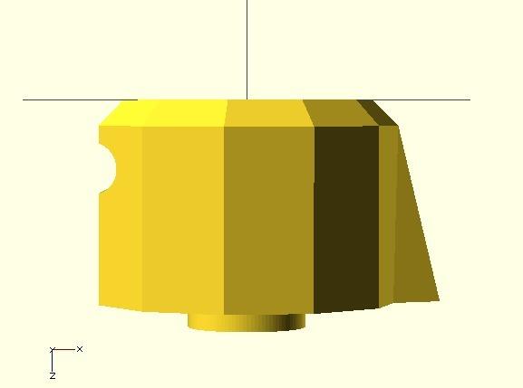 1-scollop_11-sided.jpg Télécharger fichier SCAD gratuit Bouton de plaque de cuisson • Design pour imprimante 3D, Glutnard