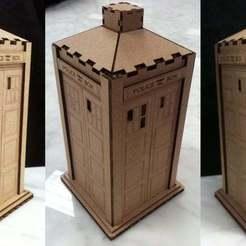 Imprimir en 3D gratis Tardis : Versión de cartón cortado por láser, Glutnard