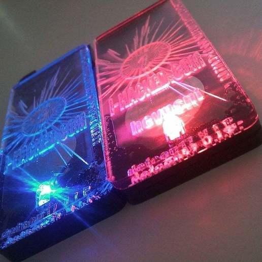 Télécharger modèle 3D gratuit Porte-clés / Porte-clés à LEDs lumineux avancés, Gaygwenn