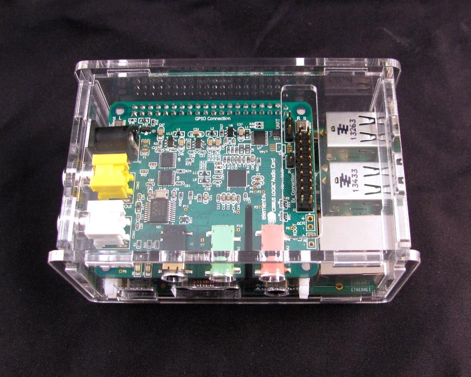 IMG_4553.JPG Télécharger fichier STL gratuit Porte-cartes audio Raspberry Pi B+ Cirrus Logic • Modèle pour imprimante 3D, Gaygwenn