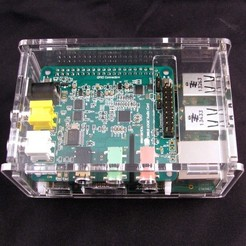Download free 3D printer files Raspberry Pi B+ Cirrus Logic Audio Card Case, Gaygwenn
