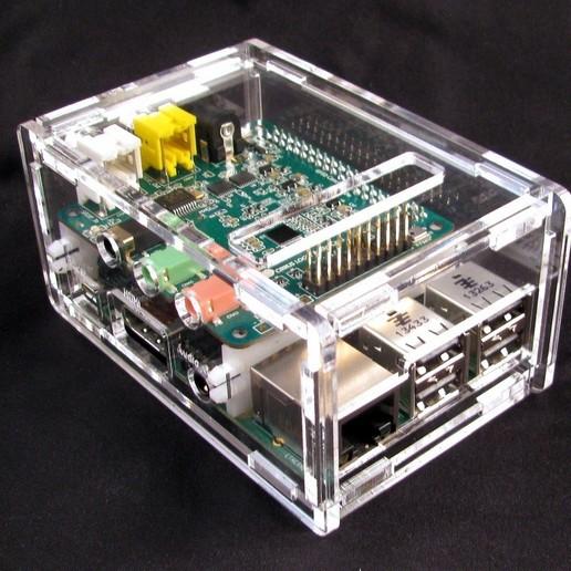 IMG_4545.JPG Télécharger fichier STL gratuit Porte-cartes audio Raspberry Pi B+ Cirrus Logic • Modèle pour imprimante 3D, Gaygwenn