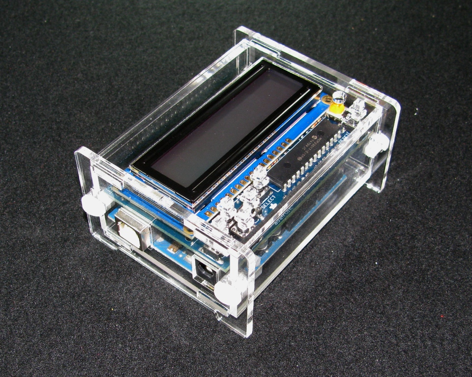 IMG_5061.JPG Download free STL file Arduino Adafruit LCD Shield Case • 3D printable object, Gaygwenn